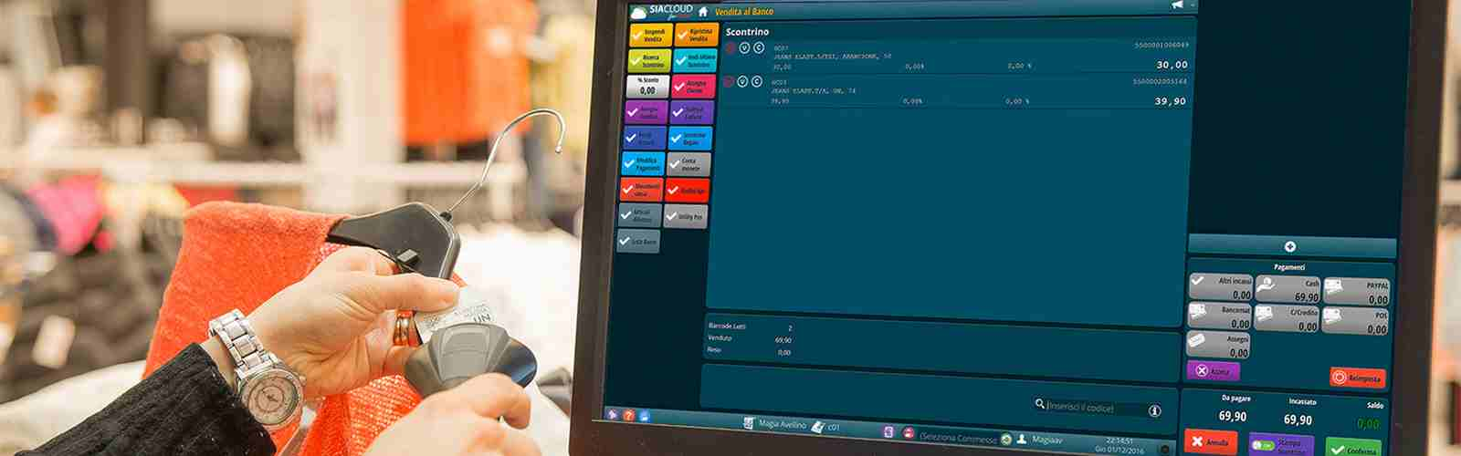 software gestionale retail - tim digital store - vendita al dettaglio - SIACLOUD